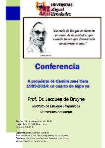Cartel conferencia Jacques