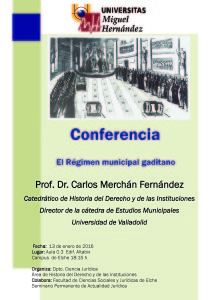 Cartel conferencia Merchán