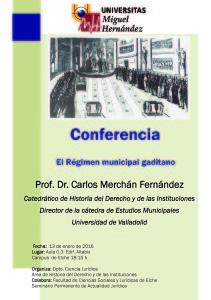 Cartel conferencia Merchán